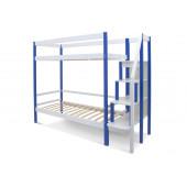 Двухъярусная кровать Svogen сине-белый