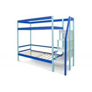 Двухъярусная кровать Svogen мятно-синий