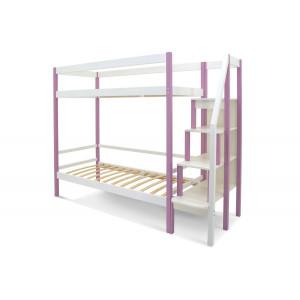 Двухъярусная кровать Svogen лаванда-белый