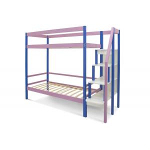 Двухъярусная кровать Svogen синий-лаванда