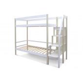 Двухъярусная кровать Svogen бежево-белый