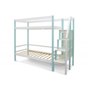 Двухъярусная кровать Svogen мятно-белый